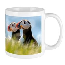 Double Puffin Pair Small Mug