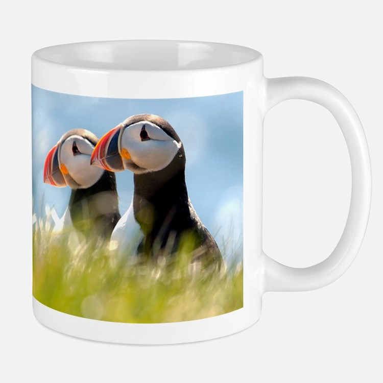 Double Puffin Pair Small Small Mug
