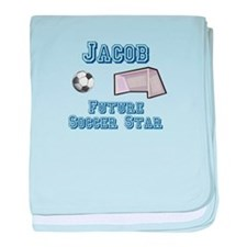 Jacob - Future Soccer Star baby blanket
