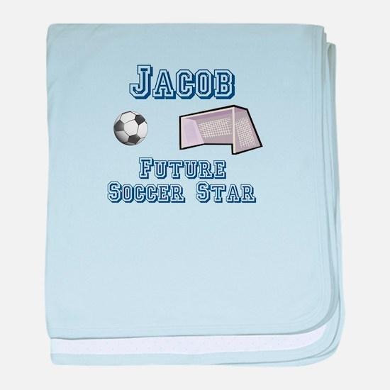 Jacob - Future Soccer Star baby blanket