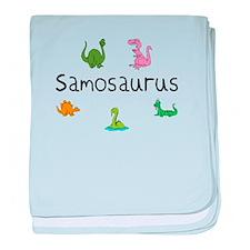 Samosaurus baby blanket