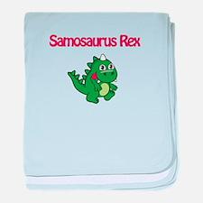 Samosaurus Rex baby blanket