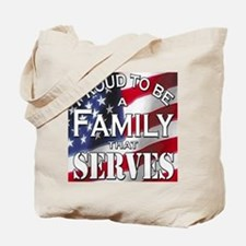 """Proud Family that Serves"" Tote Bag"