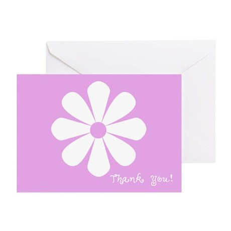 Thank You: (light purple) Greeting Cards (Pk of 10