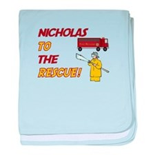 Nicholas to the Rescue! baby blanket