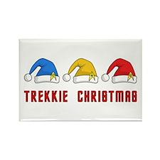 Trekkie Christmas Rectangle Magnet