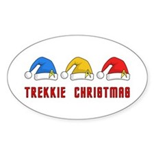 Trekkie Christmas Decal