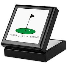 Wanna Play a Round? Keepsake Box