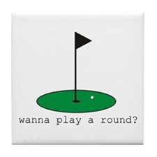 Wanna Play a Round? Tile Coaster
