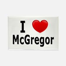 I Love McGregor Rectangle Magnet