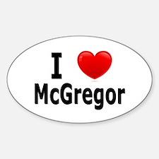 I Love McGregor Sticker (Oval)