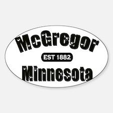 McGregor Established 1882 Sticker (Oval)