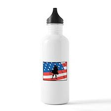Bagpiper In America Water Bottle