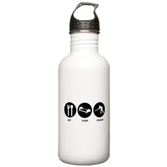 Eat Sleep Cricket Water Bottle