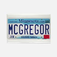 McGregor License Plate Rectangle Magnet