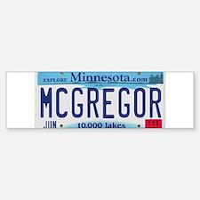 McGregor License Plate Sticker (Bumper)