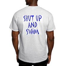 Shut Up and Swim Ash Grey T-Shirt
