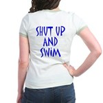 Shut Up and Swim Jr. Ringer T-Shirt