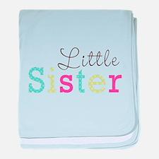 Little Sis Polka Dot baby blanket