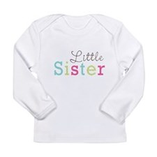 Little Sis Polka Dot Long Sleeve Infant T-Shirt