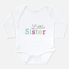 Little Sis Polka Dot Long Sleeve Infant Bodysuit