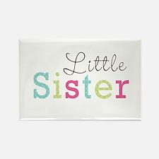 Little Sis Polka Dot Rectangle Magnet