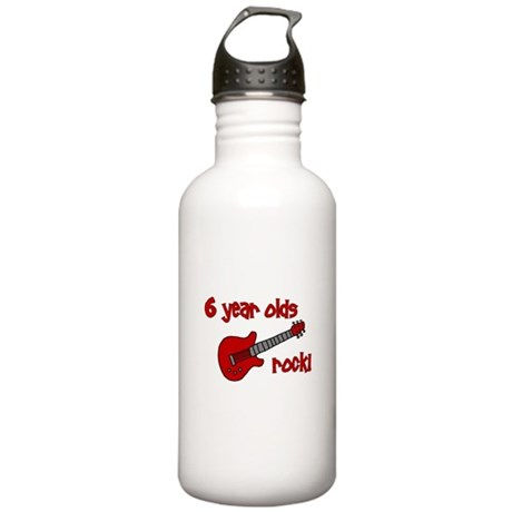 6 year olds Rock! Stainless Water Bottle 1.0L
