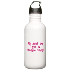 Aunt & I Got In Trouble Water Bottle