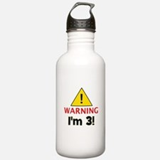 Warning I'm 3 Sports Water Bottle