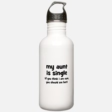 My Aunt Is Single Water Bottle