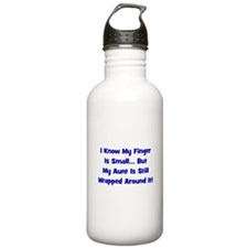 Aunt Wrapped Around Finger - Sports Water Bottle