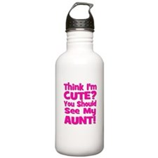 Think I'm Cute? Aunt Pink Sports Water Bottle