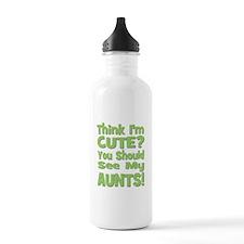 Think I'm Cute? AuntS! (PLURA Sports Water Bottle