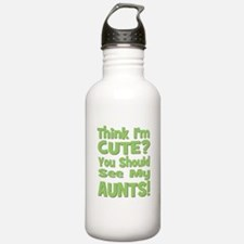 Think I'm Cute? AuntS! (PLURA Sports Water Bottle