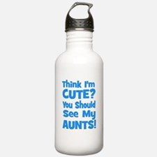 Think I'm Cute? AuntS (plural Sports Water Bottle