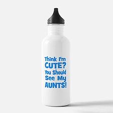 Think I'm Cute? AuntS (plural Water Bottle