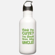 Think I'm Cute? Uncle Green Water Bottle