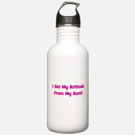 I Get My Attitude from My Aun Sports Water Bottle