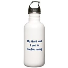 My Aunt and I got in trouble Sports Water Bottle