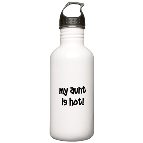 My Aunt Is Hot! black Stainless Water Bottle 1.0L