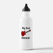 My Dad Rocks! (guitar) Water Bottle
