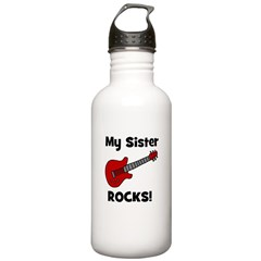 My Sister Rocks! (guitar) Water Bottle