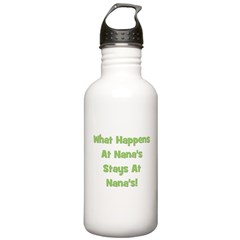 What Happens At Nana's Green Water Bottle