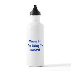 Going To Nana's! Blue Water Bottle