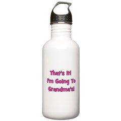 I'm Going To Grandma's! Pink Water Bottle