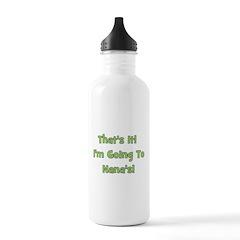 Going To Nana's! Green Water Bottle