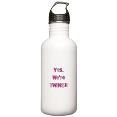 Yes, We're Twins - Pink & Pin Water Bottle