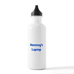 Mommy's Laptop blue Water Bottle