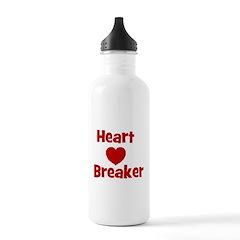 Heart Breaker with heart Water Bottle