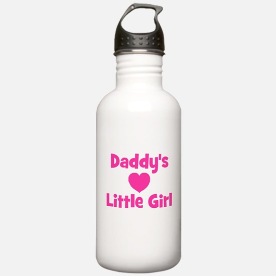 Daddy's Little Girl with hear Water Bottle